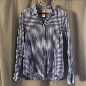 J Crew gingham button down